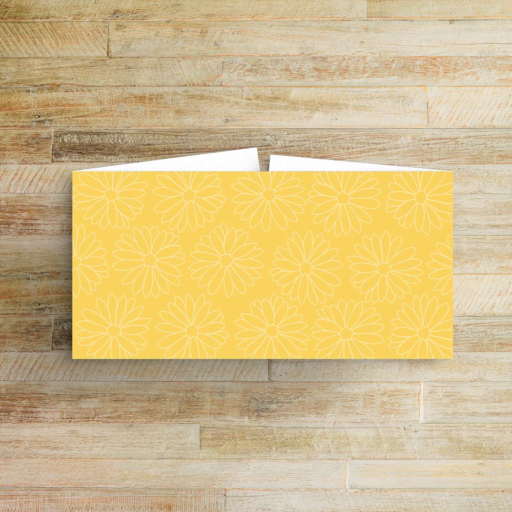 Yellow Daisy Belly Band - lemon floral simple modern wedding stationery suite uk - Hawthorne and Ivory