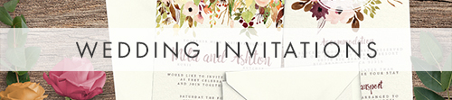 Autumn Flowers Invitation Suite - watercolour flowers wedding stationery suite UK - Hawthorne and Ivory
