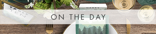 Blue Green Mountains On The Day - modern graphic outdoor wedding stationery suite uk - Hawthorne and Ivory