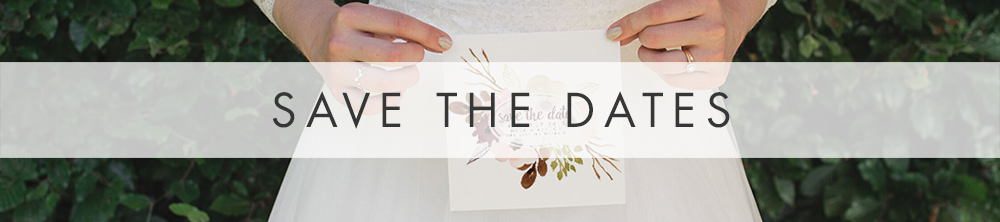 Autumn Flowers Save The Date - watercolour flowers wedding stationery suite UK - Hawthorne and Ivory