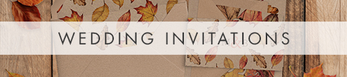 Autumn Leaves Invitation - watercolour painted leaves wedding stationery suite uk - Hawthorne and Ivory