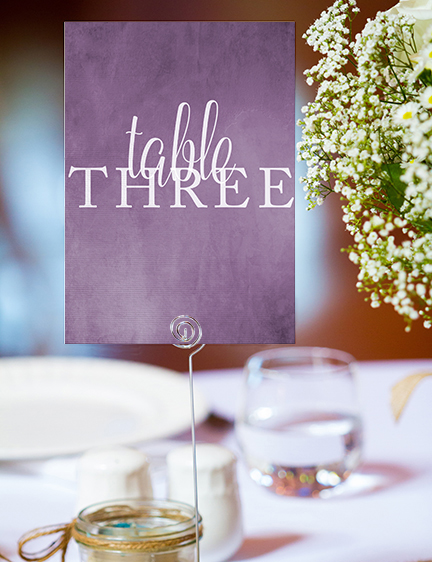 Lavender Petals Table Number - lilac pastel purple wedding stationery suite uk - Hawthorne and Ivory