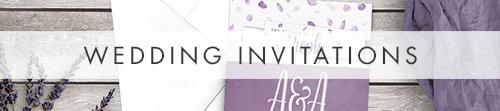 Lavender Petals Invitation - lilac pastel purple wedding stationery suite uk - Hawthorne and Ivory