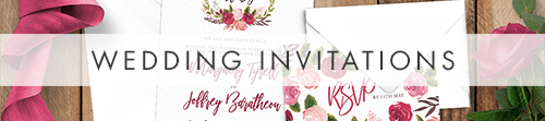 Rustic Rose Invitation - red pink roses watercolour wedding wedding stationery suite uk - Hawthorne and Ivory