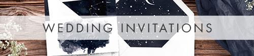 Starry Night Invitation - watercolour celestial stars constellation moon navy wedding wedding stationery suite uk - Hawthorne and Ivory