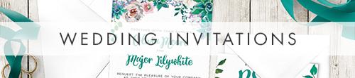 Succulent Rose Invitation - teal turquoise hydrangea eucalyptus floral wedding stationery suite uk - Hawthorne and Ivory