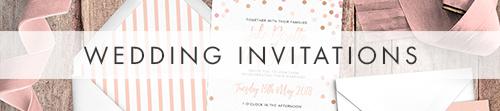 Blush Confetti Invitation - blush pink and rose gold whimsical wedding stationery suite uk - Hawthorne and Ivory