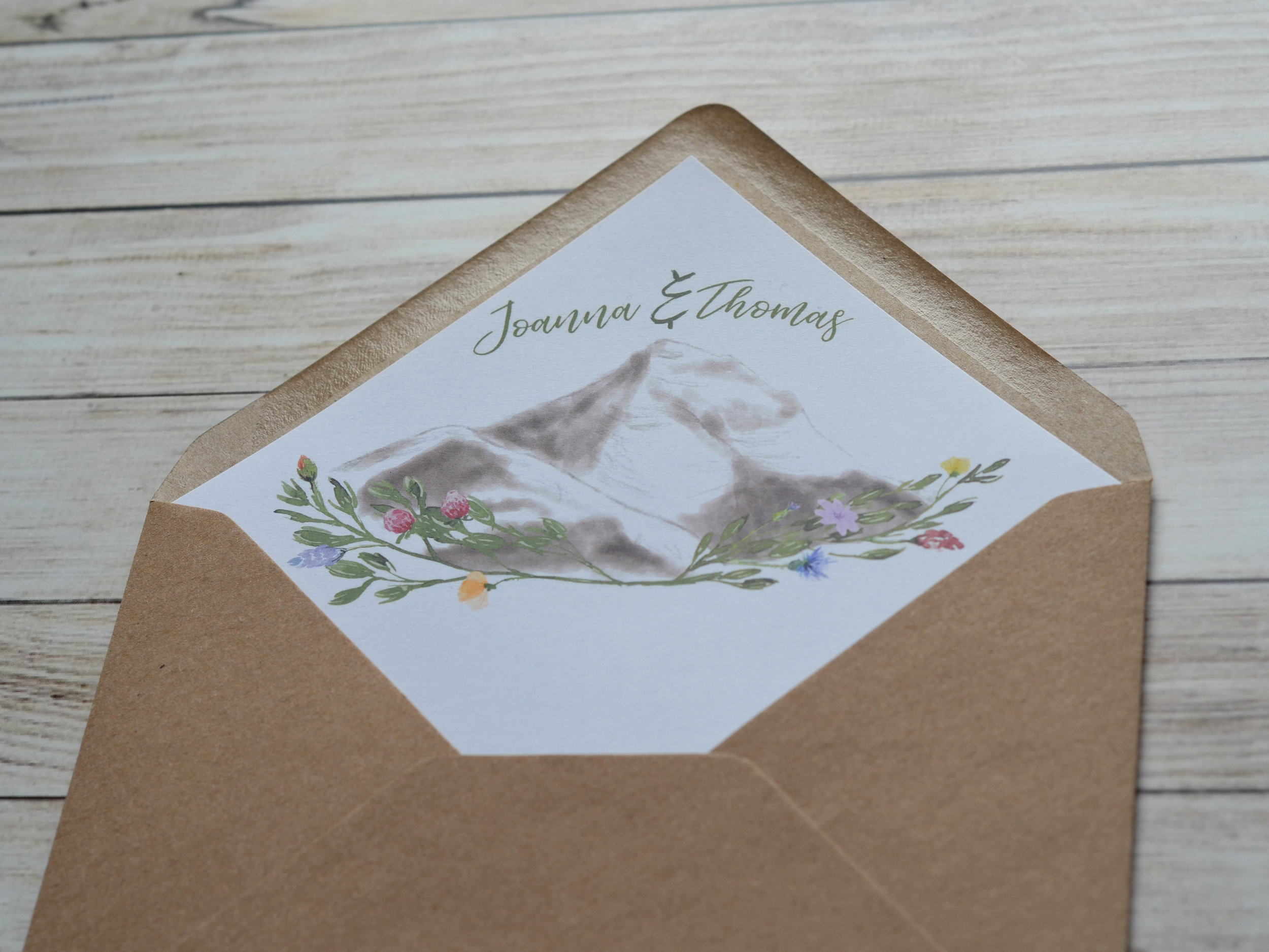 bespoke illustrated wedding stationery design