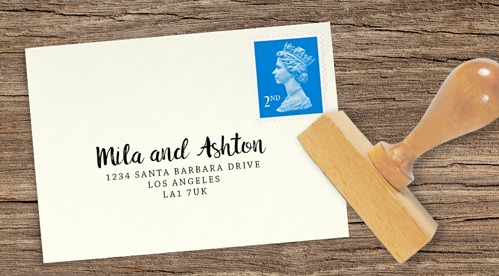 Autumn Flowers Return Address Stamp - watercolour flowers wedding stationery suite UK - Hawthorne and Ivory