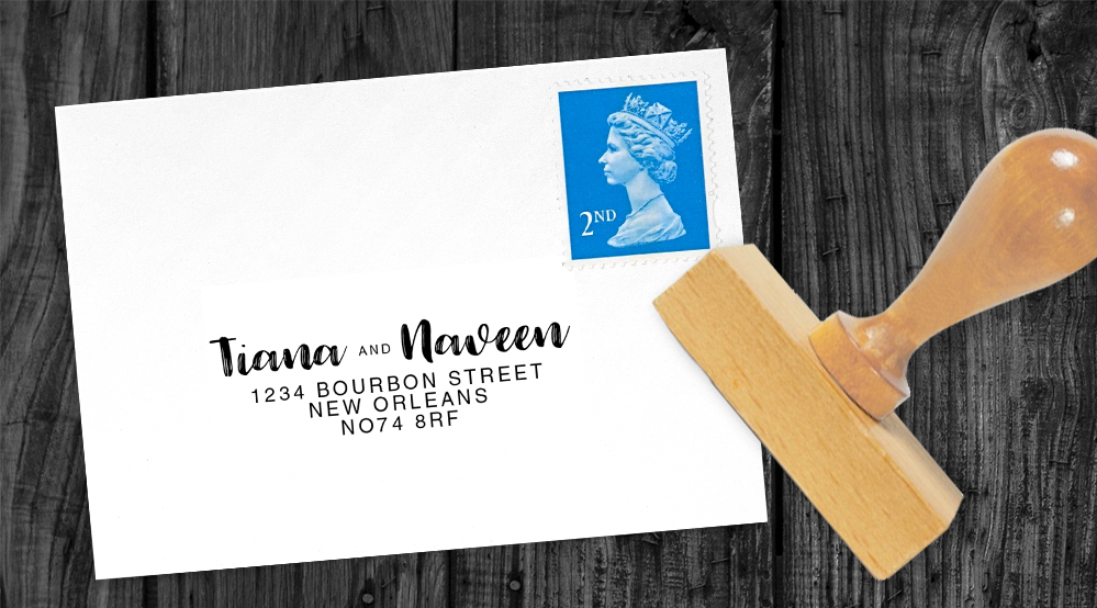 Polka Dot Peony Return Address Stamp - watercolour pink floral wedding wedding stationery suite uk - Hawthorne and Ivory