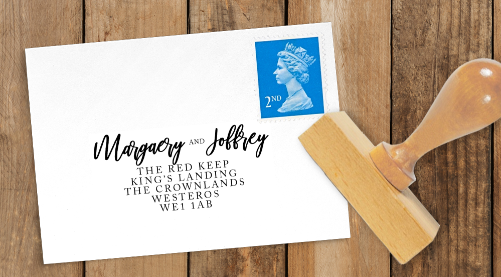 Rustic Rose Return Address Stamp - red pink roses watercolour wedding wedding stationery suite uk - Hawthorne and Ivory