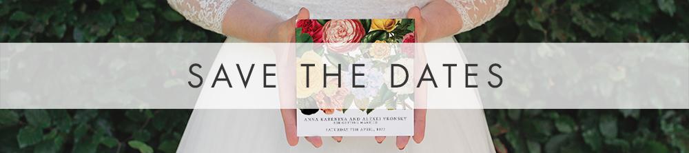 Floribunda Save The Dates - vintage floral wedding stationery suite uk - Hawthorne and Ivory