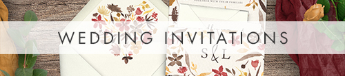 Cranberry and Mustard Wedding Invitations - watercolour floral wedding stationery suite UK - Hawthorne and Ivory