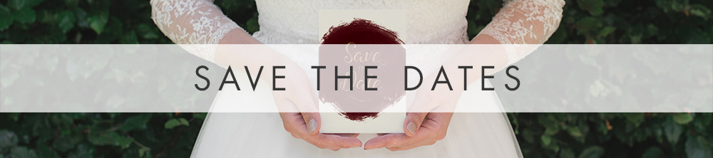 Marsala Wine Save the Dates - red burgundy watercolour wedding stationery - Hawthorne and Ivory