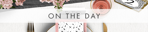 Black and Blush On The Day - bold modern pink graphic pattern wedding stationery - Hawthorne and Ivory