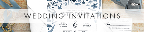 Dusky Blue Invitation Suite - watercolour blue floral wedding stationery suite UK - Hawthorne and Ivory