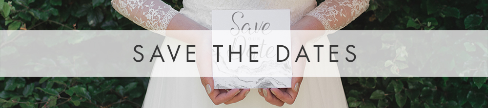 Marble Save The Date - grey and white modern elegant wedding stationery suite UK - Hawthorne and Ivory