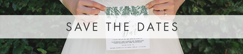 Elegant Sage Floral Save The Date - watercolour floral greyed jade green wedding stationery suite UK - Hawthorne and Ivory