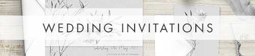 Grey Dust Invitation Suite - watercolour floral wedding stationery suite UK - Hawthorne and Ivory