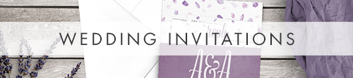 Lavender Petals Invitation Suite - watercolour floral wedding stationery suite UK - Hawthorne and Ivory