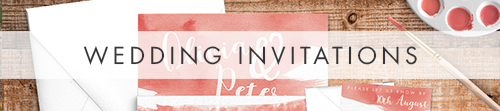 Soft Peach Invitation Suite - painted watercolour wedding stationery suite UK - Hawthorne and Ivory