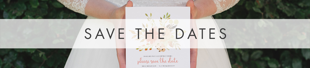 Spring Flowers Save The Dates - painted floral watercolour wedding stationery suite UK - Hawthorne and Ivory