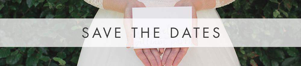 Subtle Powder White Save The Dates - minimal modern wedding stationery suite UK - Hawthorne and Ivory