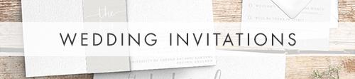 Subtle Powder White Invitations - minimal modern wedding stationery suite UK - Hawthorne and Ivory