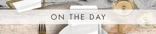 Subtle Powder White On The Day - minimal modern wedding stationery suite UK - Hawthorne and Ivory