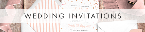 Blush Confetti Invitations - pink whimsical rose gold wedding stationery suite UK - Hawthorne and Ivory