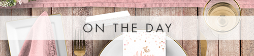 Blush Confetti On The Day - pink whimsical rose gold wedding stationery suite UK - Hawthorne and Ivory