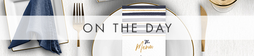 Navy and Gold On The Day - nautical stripe blue gold watercolour wedding stationery suite uk - Hawthorne and Ivory