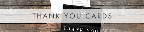 Black and White Thank You Cards - bold watercolour brushstrokes wedding stationery suite uk - Hawthorne and Ivory