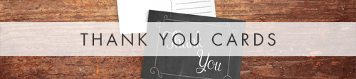 Chalkboard Thank You Cards - rustic chalk slate grey wedding stationery suite uk - Hawthorne and Ivory