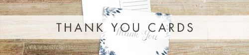 Dusky Blue Thank You Cards - blue watercolour floral wedding stationery suite uk - Hawthorne and Ivory