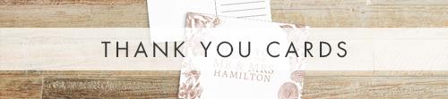 Nude Classic Thank You Cards - vintage beige neutral floral wedding stationery suite uk - Hawthorne and Ivory