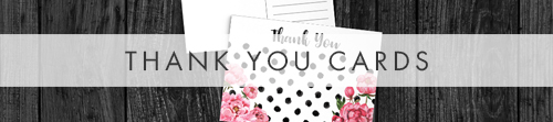 Polka Dot Peony Thank You Cards - pink floral modern kate spade wedding invitations stationery - Hawthorne and Ivory