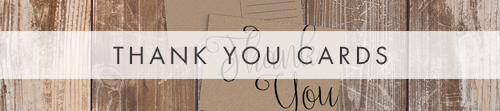 Simple Kraft Thank You Cards - rustic simple botanical floral wedding wedding stationery suite uk - Hawthorne and Ivory