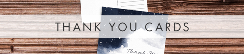 Starry Night Thank You Cards - watercolour celestial stars constellation moon navy wedding wedding stationery suite uk - Hawthorne and Ivory