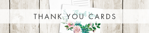 Succulent Rose Thank You Cards - teal turquoise hydrangea eucalyptus floral wedding stationery suite uk - Hawthorne and Ivory