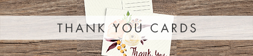 Autumn Flowers Thank You Cards - watercolour flowers wedding stationery suite UK - Hawthorne and Ivory