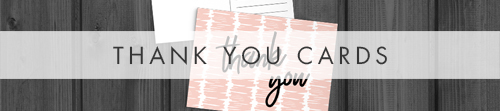 Black and Blush Thank You Cards - bold modern graphic wedding stationery suite uk - Hawthorne and Ivory