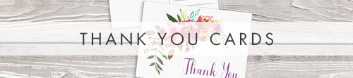 Bright Summer Floral Thank You Cards - colourful pink watercolour flowers wedding stationery suite uk - Hawthorne and Ivory