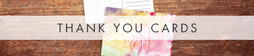 Rainbow Drops Thank You Cards - colourful watercolour painted polka dot wedding wedding stationery suite uk - Hawthorne and Ivory