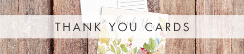 Shabby Chic Floral Thank You Cards - watercolour flowers rose wedding wedding stationery suite uk - Hawthorne and Ivory