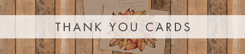 Autumn Leaves Thank You Cards - watercolour painted leaves wedding stationery suite uk - Hawthorne and Ivory