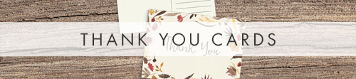 Cranberry and Mustard Thank You Cards - burgundy red yellow autumn watercolour flowers wedding stationery suite uk - Hawthorne and Ivory