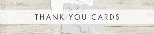 Grey Dust Thank You Cards - grey dust floral wedding stationery suite uk - Hawthorne and Ivory