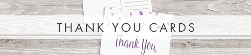 Lavender Petals Thank You Cards - lilac pastel purple wedding stationery suite uk - Hawthorne and Ivory
