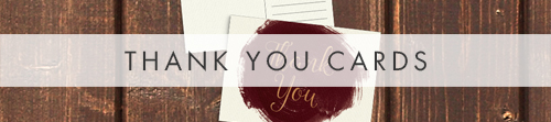 Marsala Wine Thank You Cards - burgundy red watercolour gold copper wedding stationery suite uk - Hawthorne and Ivory